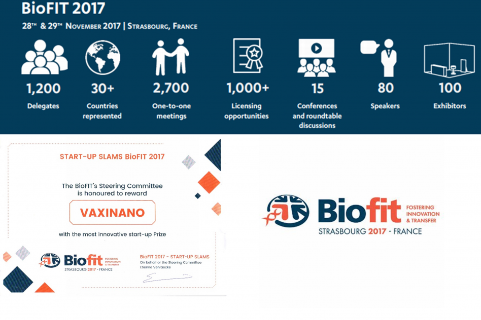 The most innovative start-up of the year 2017 at Biofit
